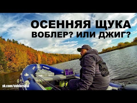Спиннинг осенью. Воблер или джиг? Ловля щуки по холодной воде. Рыбалка 2017.