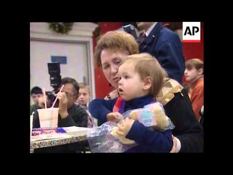 Russia - US Marines Hand Out Christmas Presents