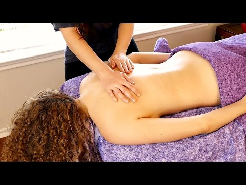 Massage Oil Tips & Relaxing Back Massage Demo with Relaxing Music, HD 1080p 60 FPS, Soft Spoken ASMR