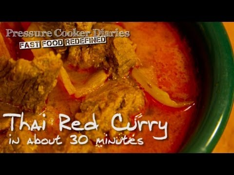 Thai Red Curry Recipe – Pressure Cooker Red Curry in about 30 minutes