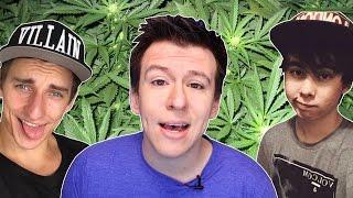 10 BIG YouTubers Who Smoked Weed (Leafy, VitalyzdTV, Philip Defranco)