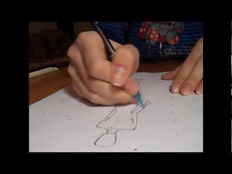 Видео как научиться рисовать одежду