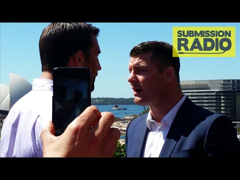 Michael Bisping & Luke Rockhold HEATED argument on Balcony