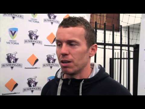 Chatting with Peter Siddle at the 2012-13 Bushrangers Season Launch