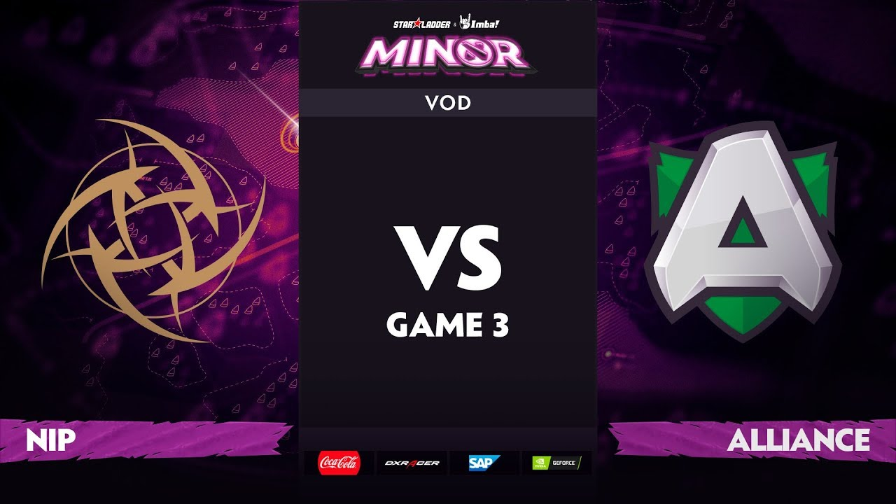 [EN] Ninjas in Pyjamas vs Alliance, Game 3, StarLadder ImbaTV Dota 2 Minor S2, Playoffs