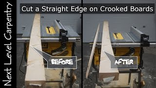 How to Cut a Straight Edge on Crooked Boards