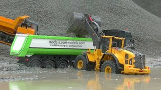 HEAVY RC CONSTRUCTION MACHINES🔥BIG WORK IN THE SLUSH🔥RC LIVE ACTION