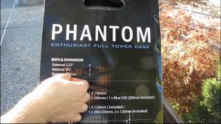 NZXT Phantom Premium Gaming Case Unboxing & First Look Linus Tech Tips