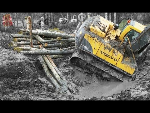 Excavator in deep shit - Heavy Recovery - Terribärgarn - Sweden Music Videos