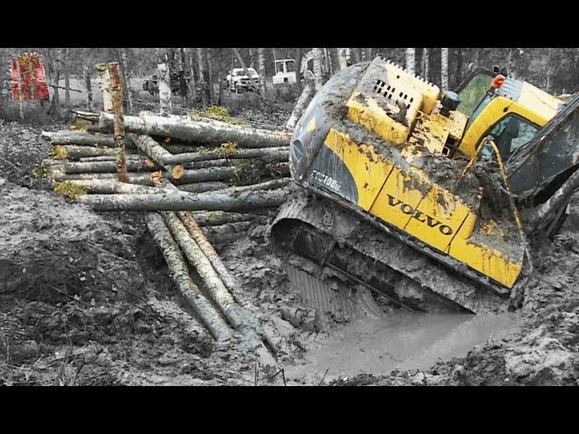 Excavator in deep shit - Terribärgarn, Heavy Recovery - Sweden