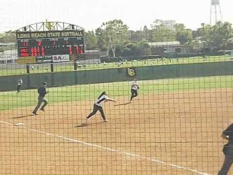 Hannah DeGaetano Stops Hard Line Drive, Then Gets The Out