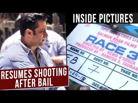 Salman Khan Resumes 'Race 3' Shooting After Coming Out Of Jail | Race 3 Shoot Inside Visuals thumbnail