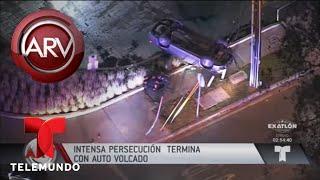 Caótica persecución a un sospechoso de robar un auto | Al Rojo Vivo | Telemundo