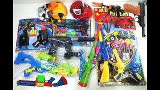 Box of Colorful Toy Gun -  Box of Guns Toys ! Military Gun & Equipment Toys   Kids Toys