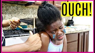 My First Pressing Comb Experience ( I CRIED! ) | Niyah Vlogs