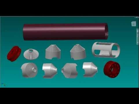 Suppressor/Silencer 3D Renders (3D CAD & KeyShot. 3D Models renders and Inventor snapshots )