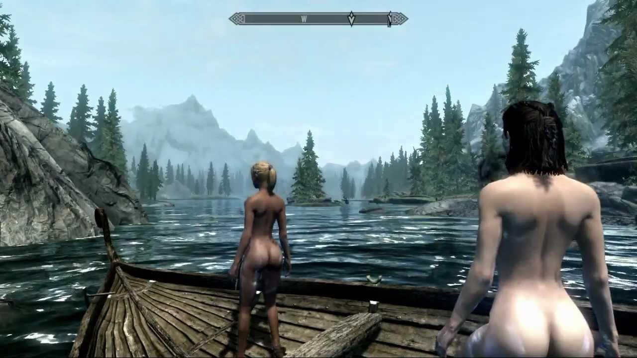 girls playing skyrim Naked