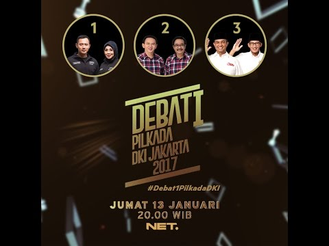 Video Live Debat Pertama Pilkada DKI Jakarta 2017