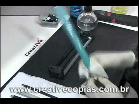 Video Aula Recarga Toner HP CP1215. CP1515. CM1312. Toner CB540A. CB541A. CB542A. CB543A