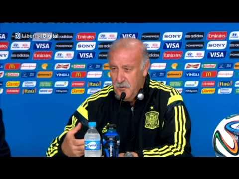 Del Bosque bromea sobre la eliminación de España en el Mundial de Brasil
