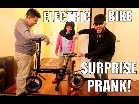 INSANE ELECTRIC BIKE SURPRISE PRANK!!