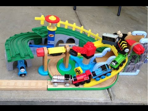 Thomas And Friends Wooden Toy Trains James, Toby ,skarloey, Edward, Oliver  Racing video