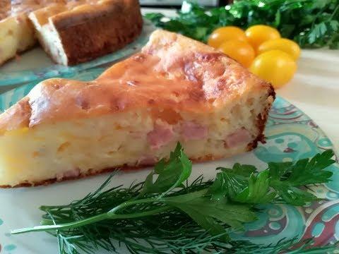 Шикарный сырный пирог с ветчиной