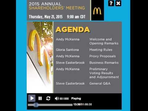 Mcdonald's Shareholder Meeting