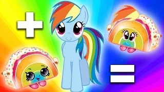 MASHUP + SURPRISE UNBOXING: My Little Pony + Shopkins - Part 2! | Character Mashup