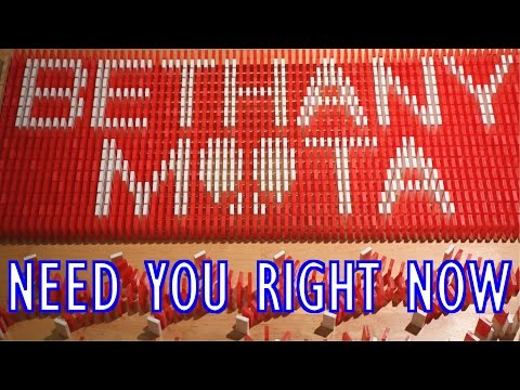 Bethany Mota - Need You Right Now LYRIC VIDEO IN DOMINOES