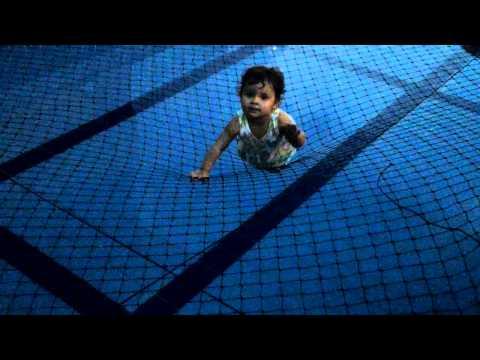 Telas sobre piscina
