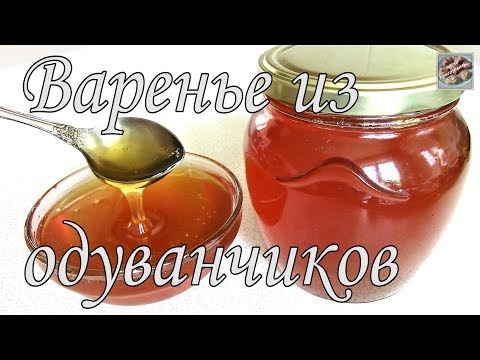 Варенье из Одуванчиков! Янтарно-солнечный сироп из одуванчиков! Легко Приготовить! Простой Рецепт!