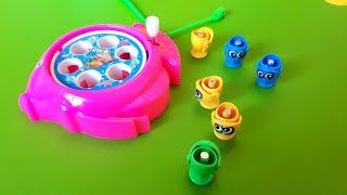 Vis Speelgoed Onder Surprise Box! LATEN we GAAN VISSEN SPEL met verrassing speelgoed openingstijden