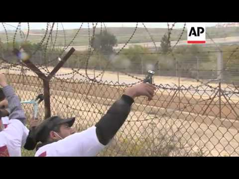 Palestinians mark Palestinian Prisoners' Day with demonstrations