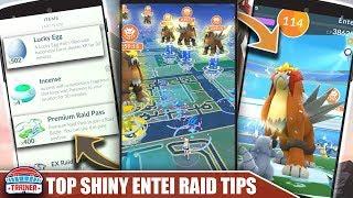 TOP 5 TIPS for SHINY ENTEI DAY!! MAX RAID QUANTITY, STARDUST, LUCKIES & XP RAIDS | Pokemon Go