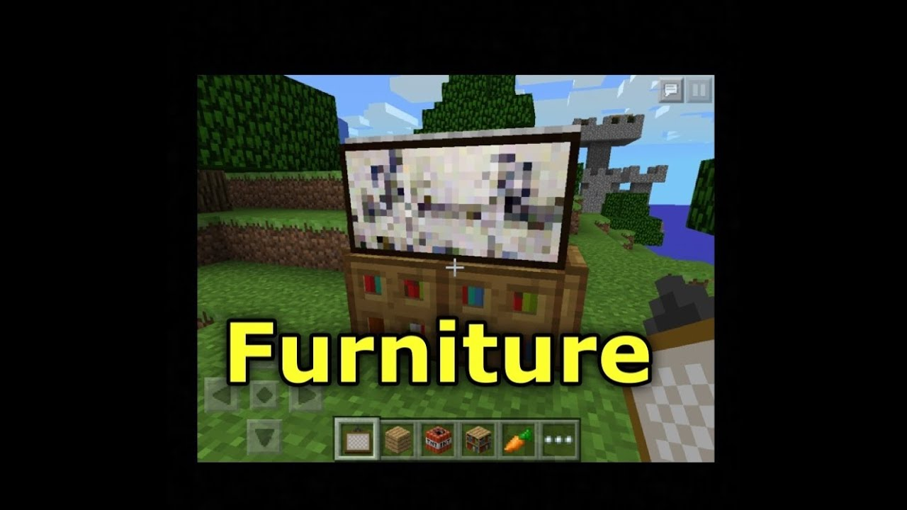 Minecraft Pe How To Make Awesome Furniture Youtube