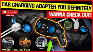 CAR CHARGING ADAPTER YOU DEFINITELY WANNA CHECK OUT!
