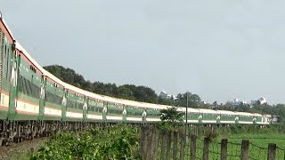 High Speedy Chittra Express (Dhaka To Khulna) Train Passing Through Jessore Cantonment Area