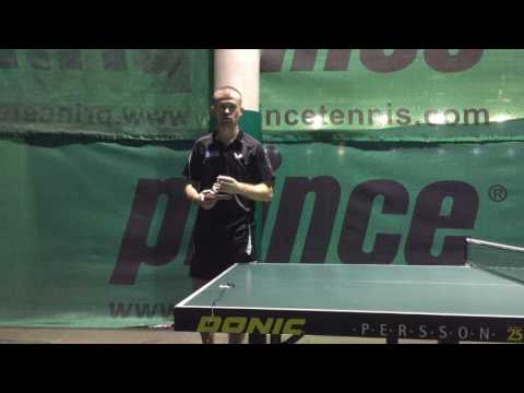 Как сделать плоскую подачу в настольном теннисе