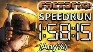 Factorio Speedrun in 1:58:15 by AntiElitz (any%) [New World Record]