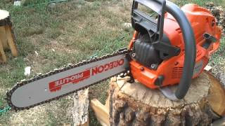 Husqvarna 555 with new felling spikes