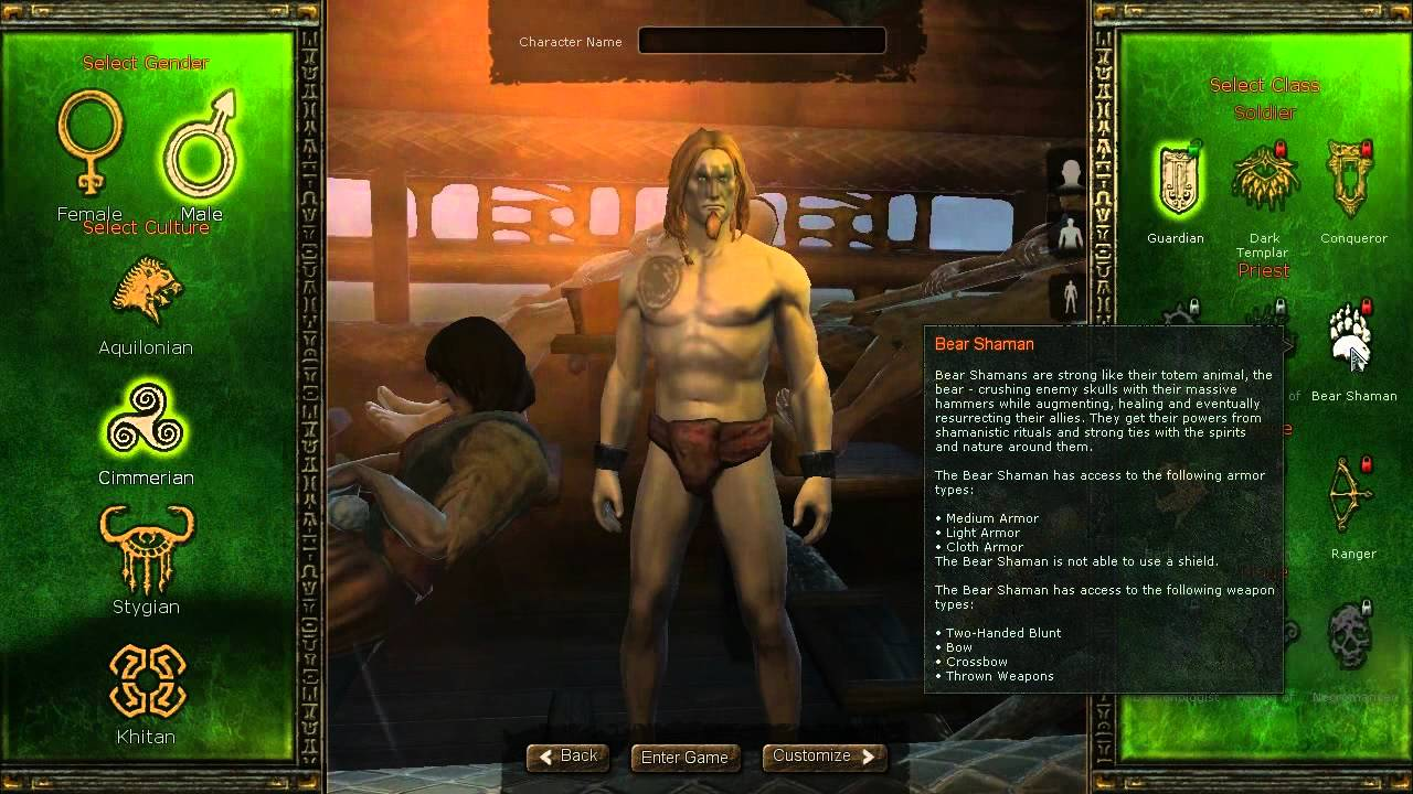 Age Conan Unchained Age of Conan Unchained Race