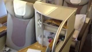 Emirates A380 Business Class эмирейтс А380 бизнес класс