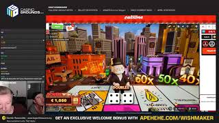 I HIT THE JACKPOT ON MONOPOLY LIVE!!! MUST SEE!!!