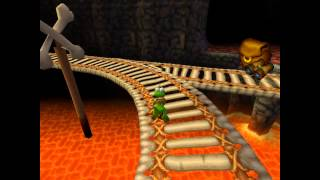 Croc 2 Kingdom of the Gobbos [PSX] 100% - Level 3-2 Find the Wheels in the Mine!