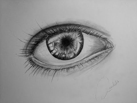 Semi realistic eye drawing (pencil)