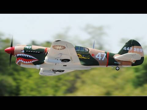 1400MM RTF 2.4ghz Airfield P40 Warhawk w/ Brushless Motor and lipo Review