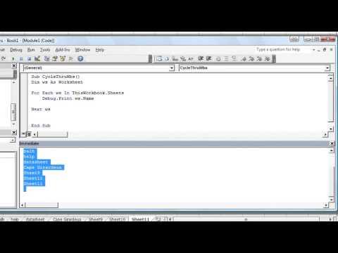Excel vba basic series excel tutzz excel vba basics 30 how to loop through each worksheet in workbook ibookread Read Online