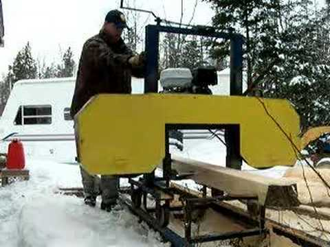 My Home Built Bandsaw Mill - Sawing Maple