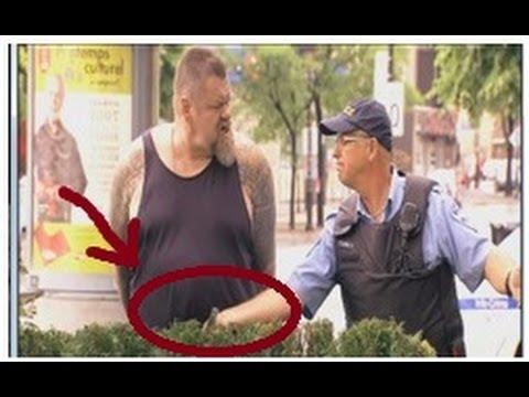 BUENA BROMA: Policía le agarra el pene para que pueda orinar